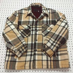 Vintage Journey Wool Plaid Jacket, Size XL